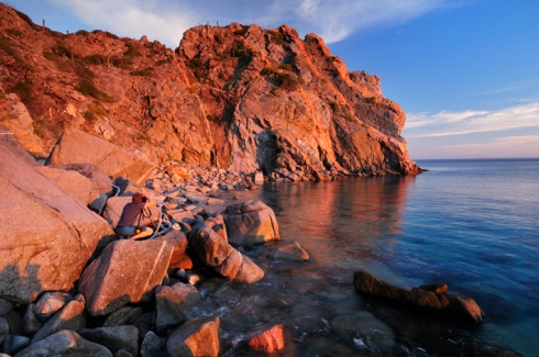 Remote headland, Sea of Cortez, Baja California Sur, Mexico